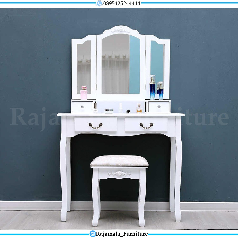 Harga Meja Rias Minimalis Putih Duco Ukiran Jepara RM-0159
