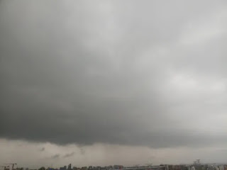 picture of the cloudy sky before rain