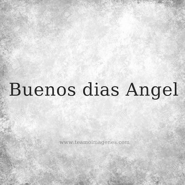 Imagen para desear buenos días angel