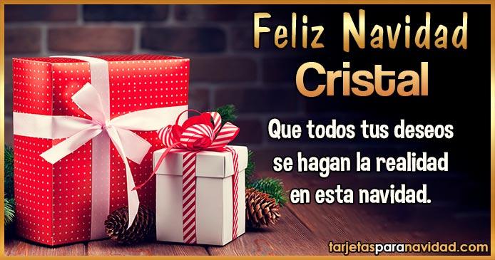 Feliz Navidad Cristal