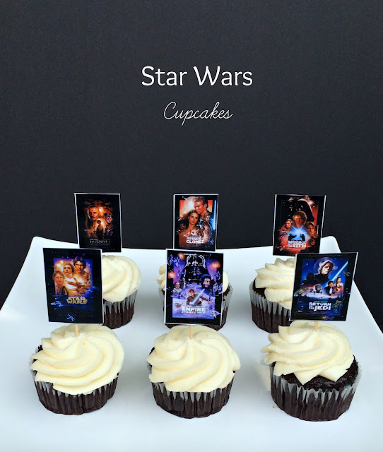 Star Wars Party Movie Poster Cupcakes - www.jacolynmurphy.com