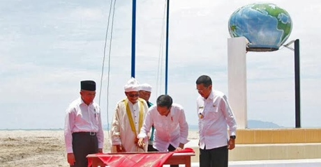 Resmikan Tugu Titik Nol Peradaban Islam Nusantara, Presiden Minta Tak Campur Adukan Antara Politik dan Agama