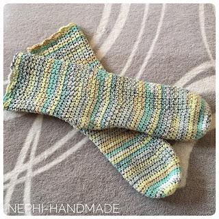 Socken gehäkelt