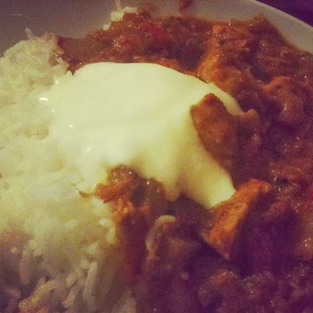 Great for zucchinis/courgettes, mushrooms, onions, the homemade Chicken Tikka Masala with homemade curry paste.