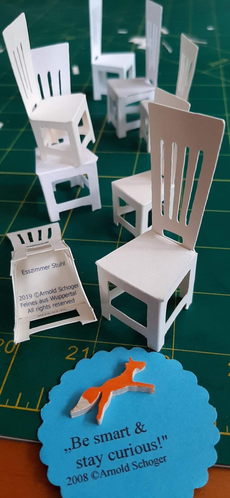 Feines Aus Wuppertal Neue 3d Stühle Aus Papier Zum Karten
