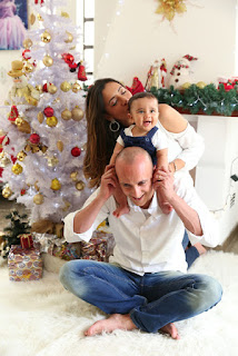 foto de família no natal