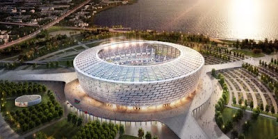 إستاد باكو الأوليمبي فى آذربيجان
