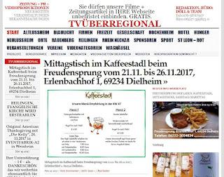 Mittagstisch im Kaffeestadl beim Freudensprung vom 21.11. bis 26.11.2017, Erlenbachhof 1, 69234 Dielheim  http://tvueberregional.de/mittagstisch-im-kaffeestadl-beim-freudensprung-vom-21-11-bis-26-11-2017-erlenbachhof-1-69234-dielheim/