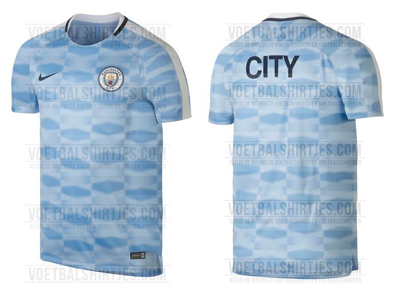 Esta es la camiseta Pre-Match Manchester City para la temporada 2017-2018. 8497de947ab50