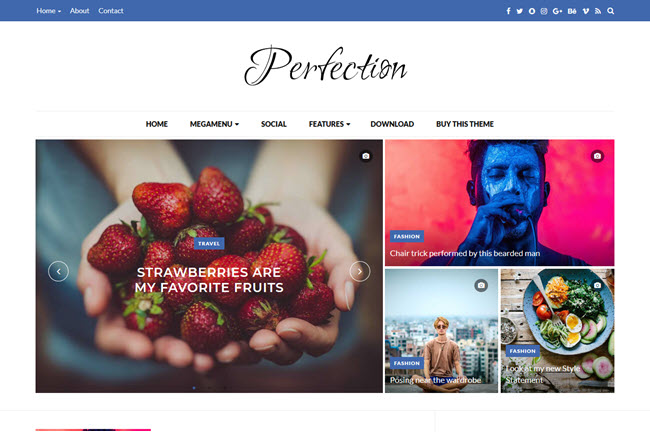 Perfection - Responsive Blogger Template