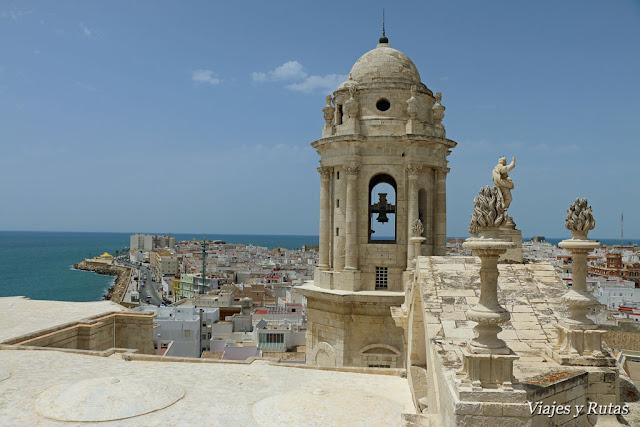 Vistas desde la Torre del Reloj de Cádiz