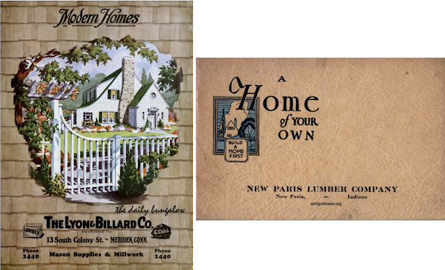 color images of covers of two plans-only books, from Daily Bungalow