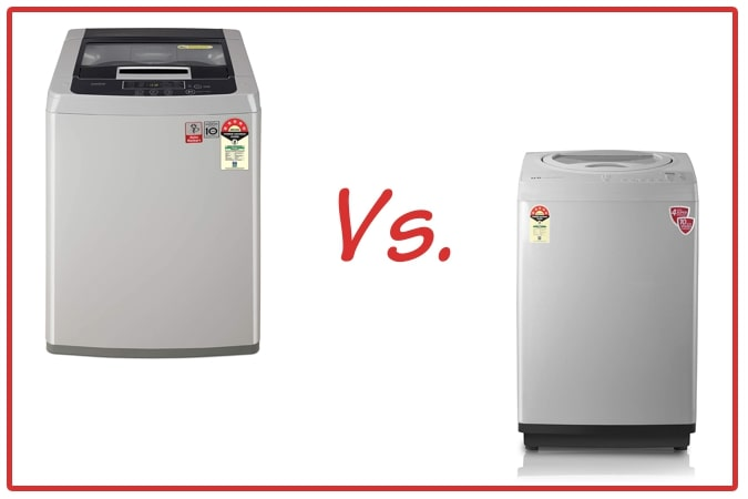 LG T70SKSF1Z (left) and IFB TL RSS Aqua (right) Washing Machine Comparison.