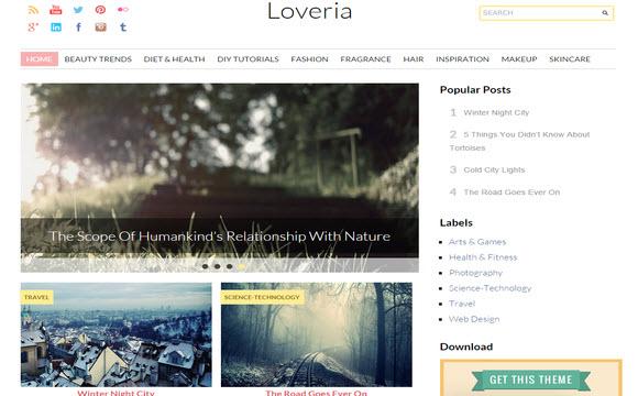 Loveria blogspot teması, seo dostu blogger teması, responsive blogger teması, ücretsiz blogger teması