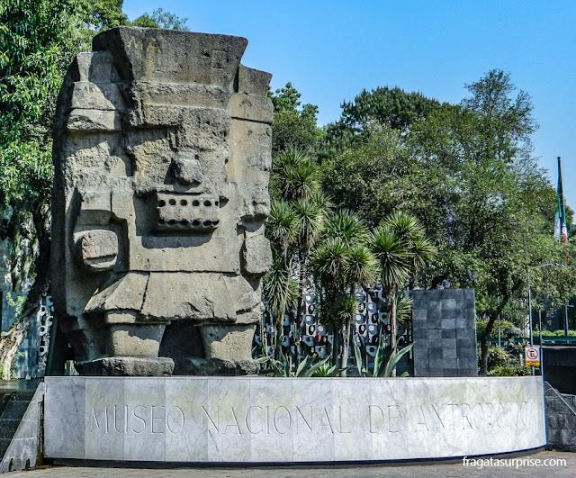 Tlaloc, deus asteca, no Museu Nacional de Antropologia do México