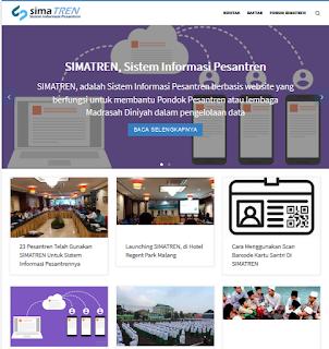 Sistem Informasi Akademik Khusus Pesantren, Bernama SIMATREN
