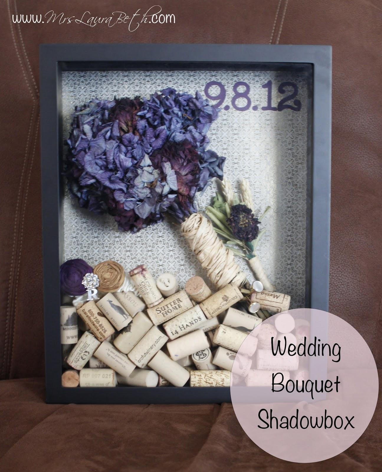 Mrs. Laura Beth: Wedding Bouquet Shadowbox