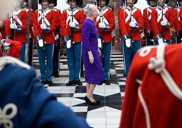 Queen Margrethe held a diplomatic reception for newly appointed ambassadors from Croatia,, Bulgaria, Russia, Chile and Malta
