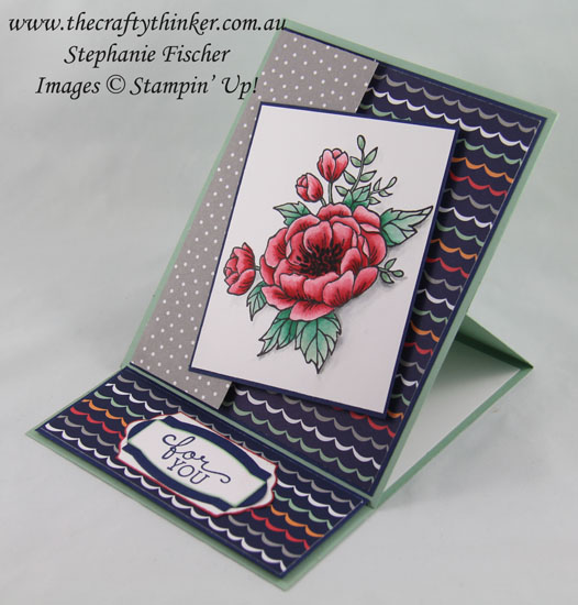 Easel Card, #crazycraftersbloghop, #thecraftythinker, Birthday Blooms, Stampin Up Australia Demonstrator, Stephanie Fischer, Sydney NSW