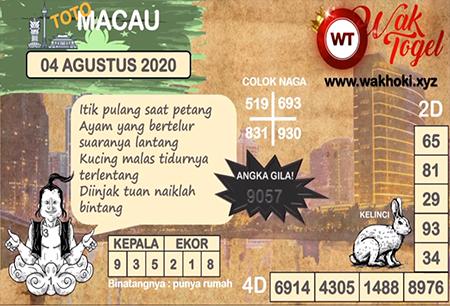 Prediksi Wak Togel Toto Macau Selasa 04 Agustus 2020