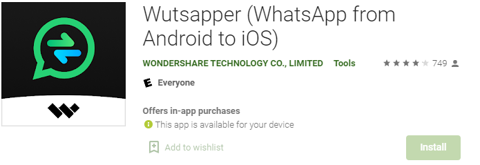 How to transfer whatsapp chats from Android to iPhone using Wutsapper