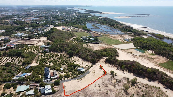 ảnh chụp từ trên cao vị trí dự án sea view garden lộc an