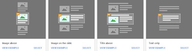 memilih format layout iklan in-feed ads