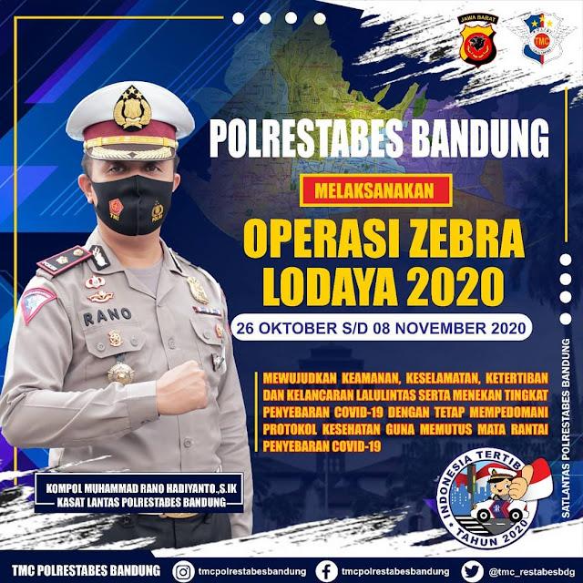 Berikut Sasaran Tilang Operasi Zebra Lodaya 2020 (28 Oktober – 8 November)