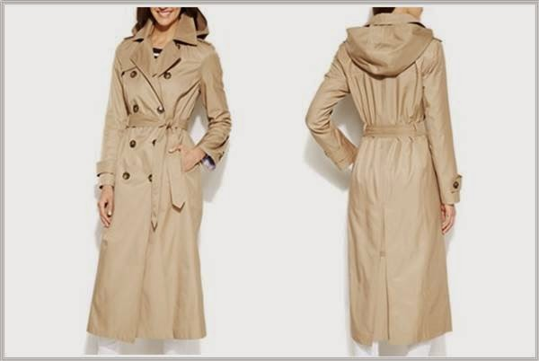 London Fog Khaki Maxi Trench