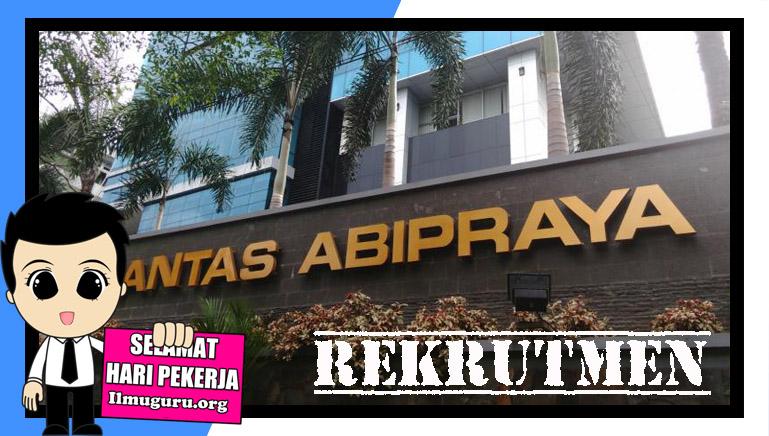 Loker Brantas Abipraya 2019