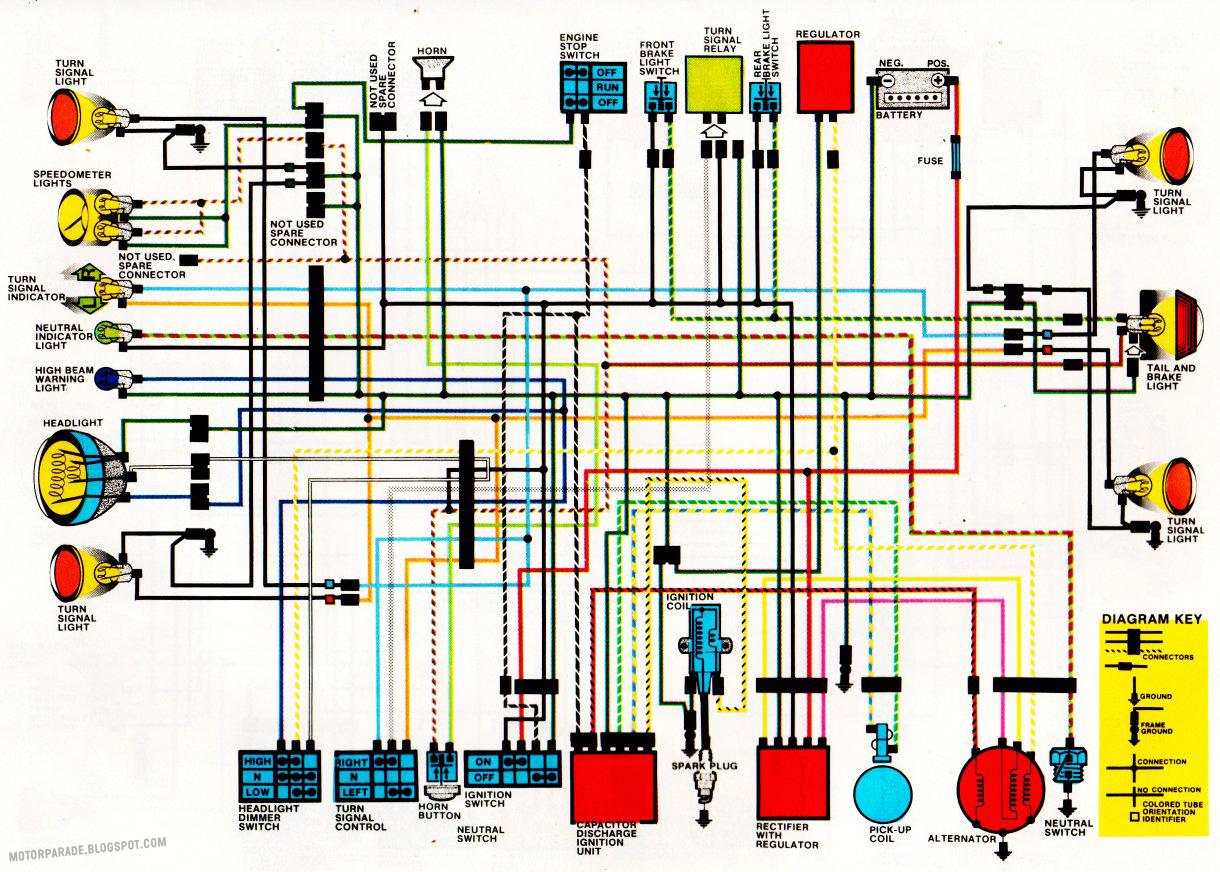1982 Honda xl500r wiring diagram