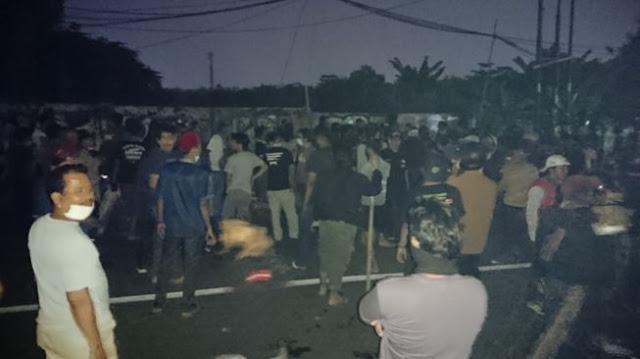 Mencekam! Malam Ini Ratusan Orang Bentrok di Ciledug karena Ada Pembacokan