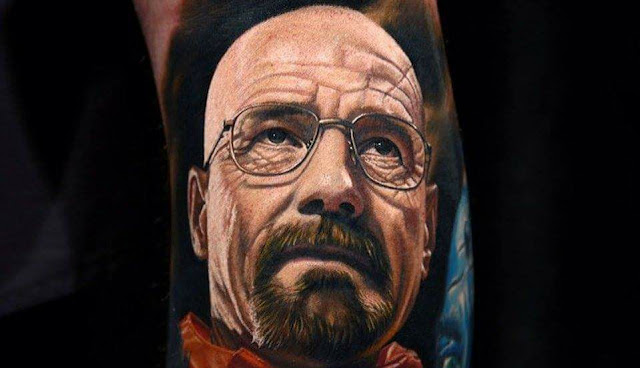 Tatuaje de Walter White de Breaking Bad