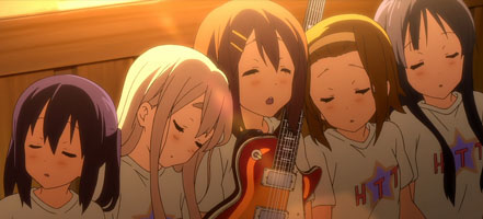 K-On!! girls sleeping.