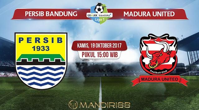 Persib Bandung berkewajiban menghentikan catatan kurang meyakinkan yang terjadi dalam ena Berita Terhangat Prediksi Bola : Persib Bandung Vs Madura United , Kamis 19 Oktober 2017 Pukul 15.00 WIB