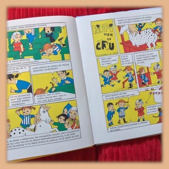 """Pippi się wprowadza i inne komiksy"" scenariusz Astrid Lindgren, ilustracje Ingrid Vang Nyman, Zakamarki"
