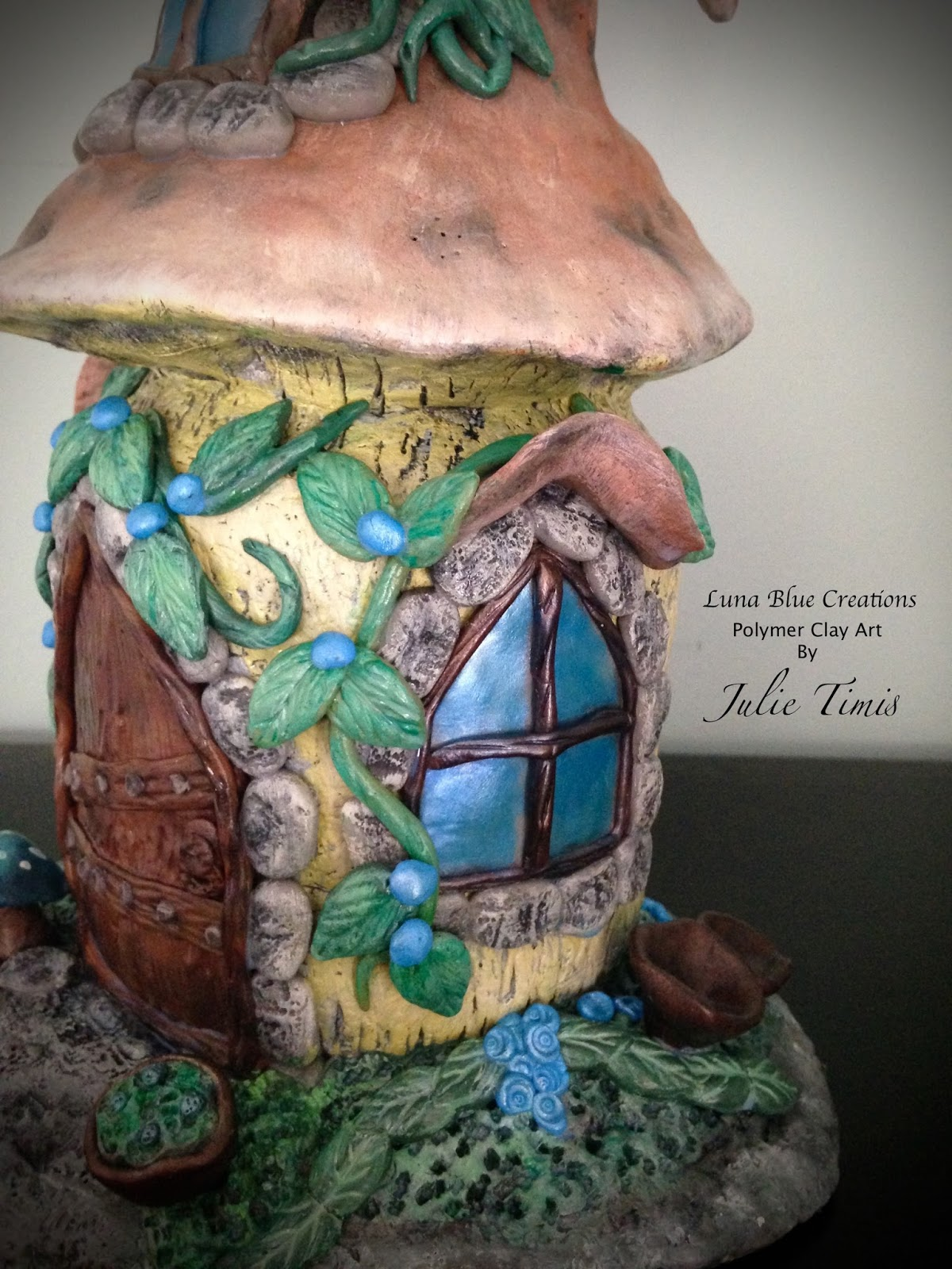 Luna Blue Creations Polymer Clay Fairy House Quot Emporium Quot