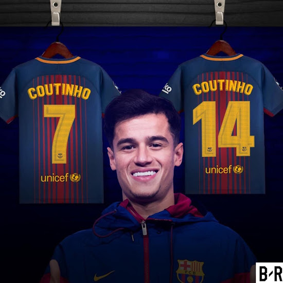8112ecaf8 Philippe Coutinho to Become Barça's New No 7 or No 14 - No Number Above 25  Allowed