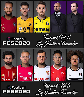 PES 2020 Facepack Vol. 6 by Jonathan Facemaker