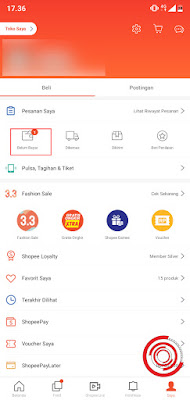 1. Langkah pertama untuk melihat kode pembayaran Shopee yang tidak tersimpan, hilang, atau lupa silakan kalian buka aplikasi Shopee lalu pilih menu Belum Bayar