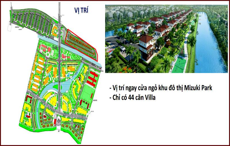 44 căn Villa cửa ngõ vào căn hộ Mizuki Park