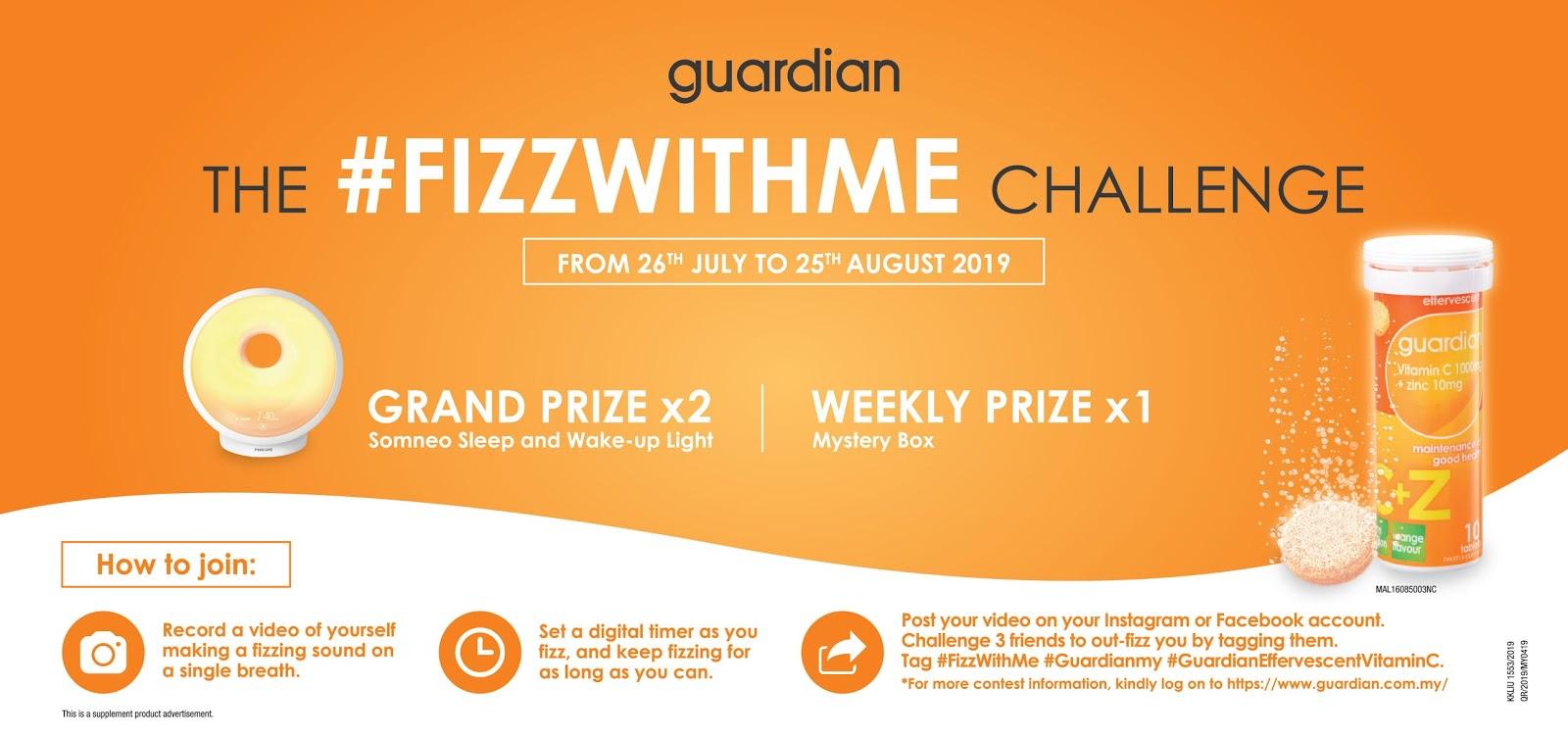 My Blogs: Guardian Vitamin C + Zinc #FizzWithMe Challenge