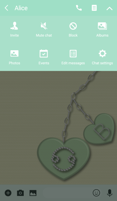 Heart pendant(Cancer & B)