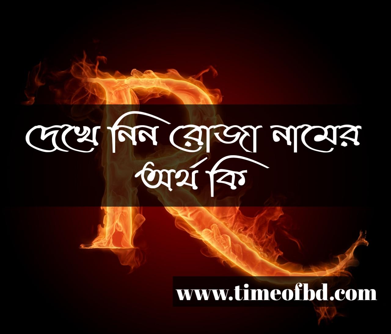 roja name meaning in Bengali, রোজা নামের অর্থ কি, রোজা নামের বাংলা অর্থ কি, রোজা নামের ইসলামিক অর্থ কি,