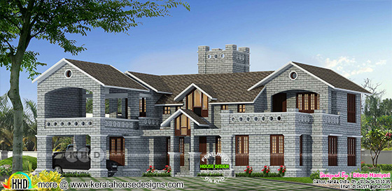 Victorian model 4 bedroom home plan