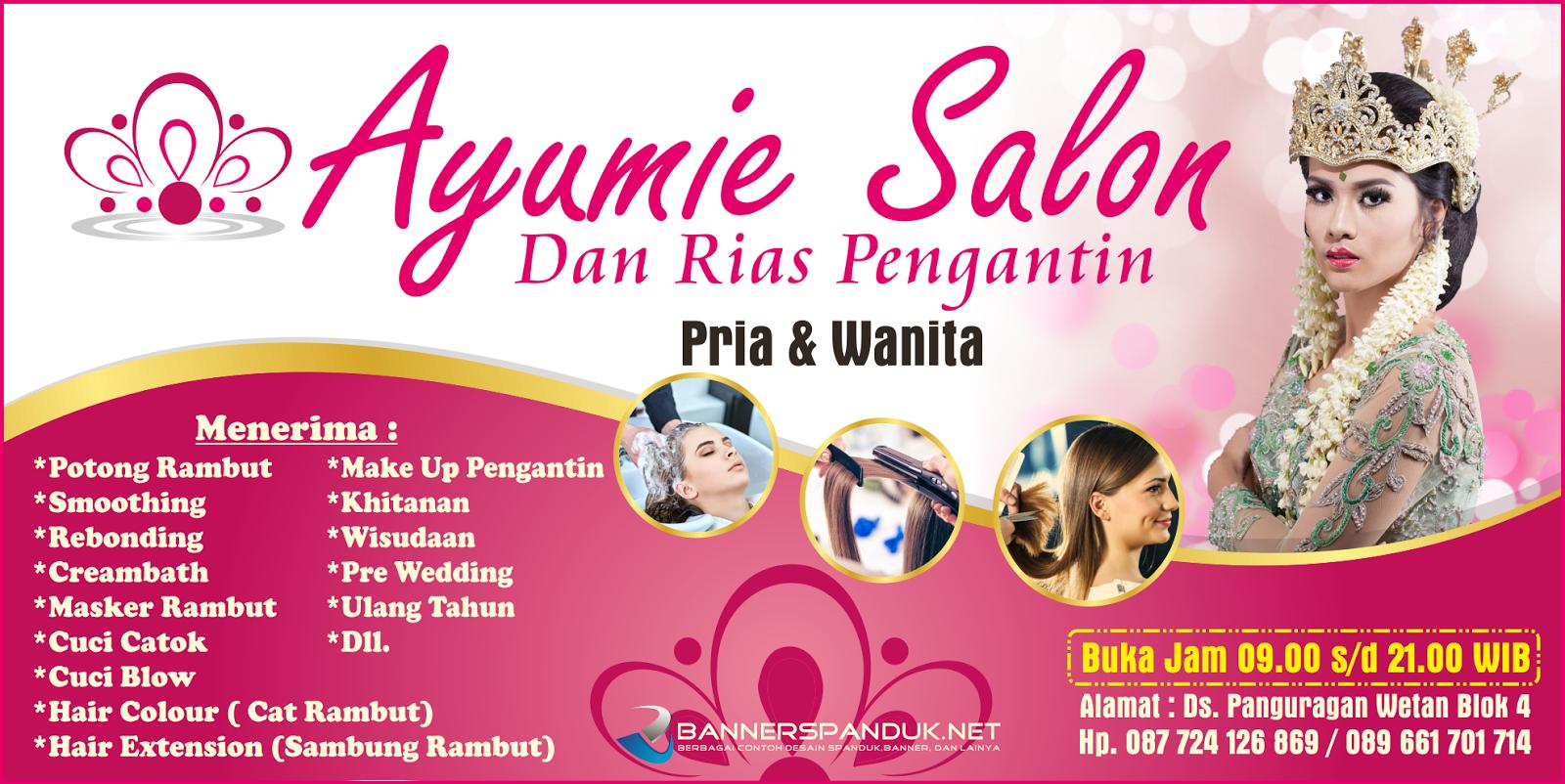 Banner Spanduk Salon Rambut & Kecantikan CDR