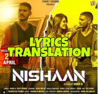 Nishaan Lyrics Meaning/Translation in Hindi (हिंदी) – Kaka