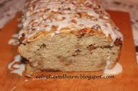 Glazed Apple and Pecan Bread. Share NOW. #dessert #breakfast #breads #apples #pecans #eclecticredbarn
