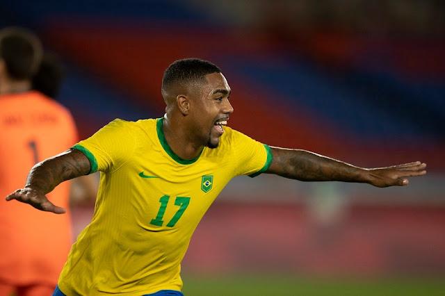 Com gol de Malcom na prorrogação, Brasil é bicampeão olímpico
