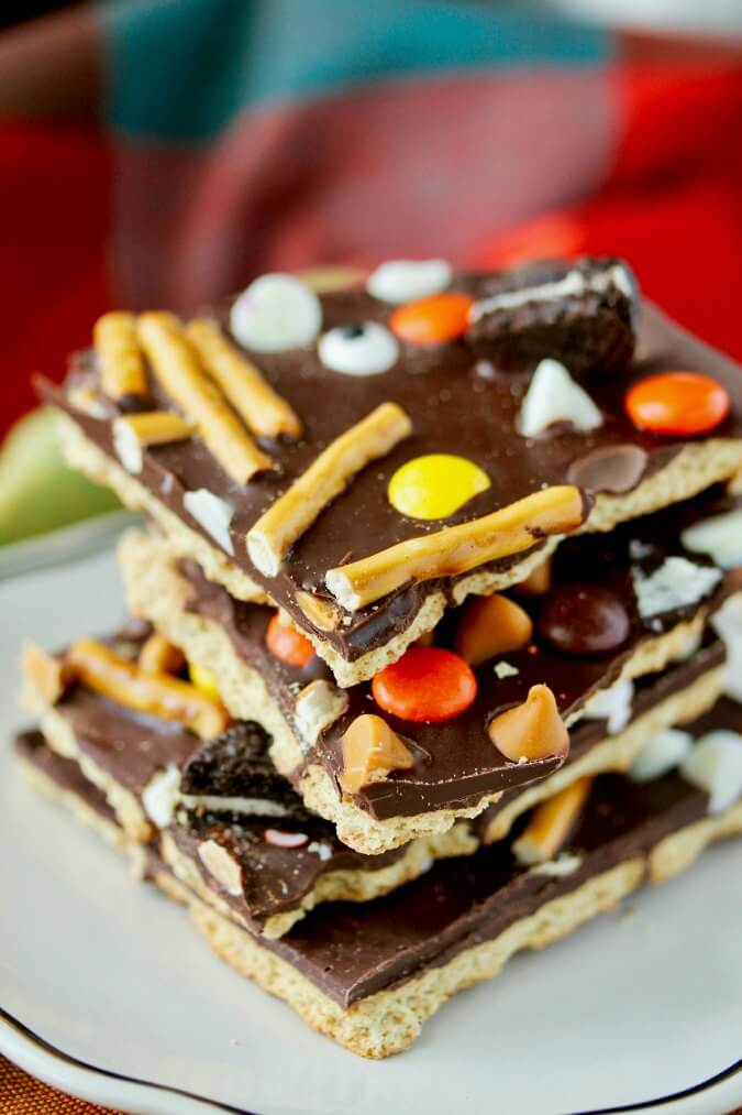 Chocolate Halloween Candy Bark